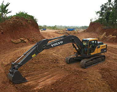 The New EC200D Excavator joins a host of other Volvo CE