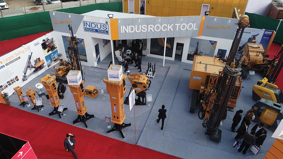 Indus displays new hydraulic rock breakers and surface drills