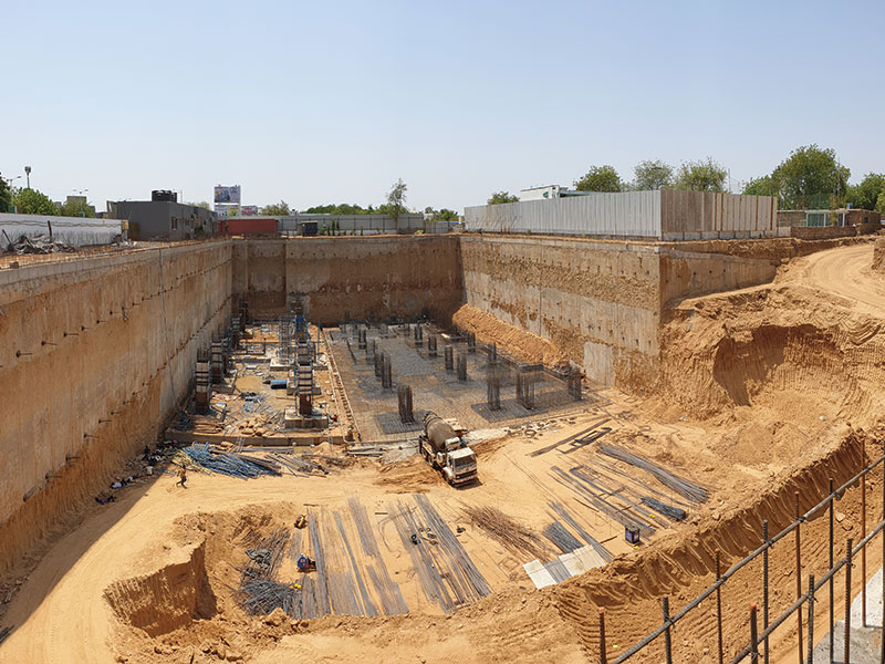 Basement Construction by Casagrande Diaphragm Wall Machines in Gujarat - A Success Story