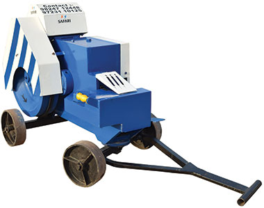 Bar Cutting machine for rebar processing on construction sites.