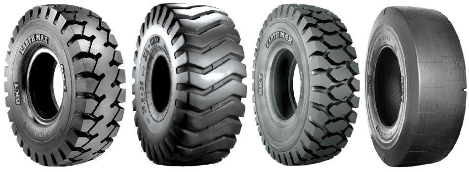 BKT's special construction machinery tires demonstrated
