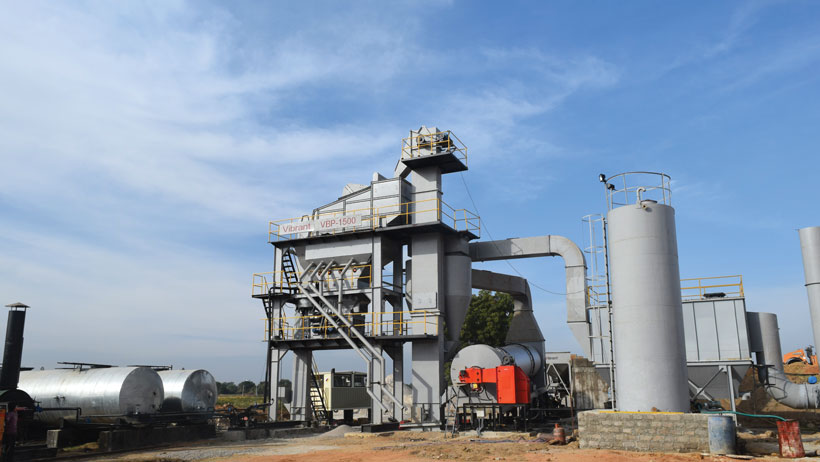 Vibrant Asphalt Batch Mix Plant