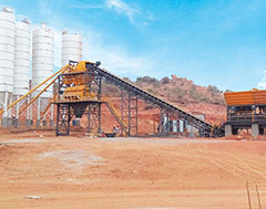 KYB-Conmat's higher capacity concrete batching plant led to greater efficiency in road construction