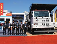 Sinotruk launches india's - first 70 ton mining truck