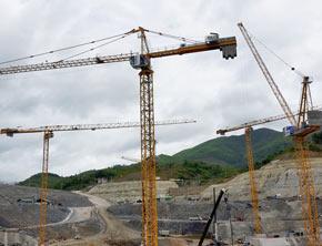 Potain Cranes Xayaburi Dam Project