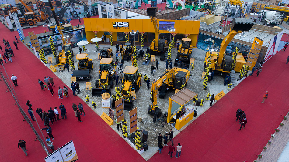 JCB stand at ConMac Nepal 2018