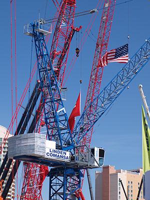 Linden Comansa Luffing jib Tower Crane