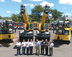 Champion Auto delivers 4 new Grove cranes to Taiwanese port