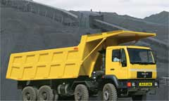 Man Force's tipper truck