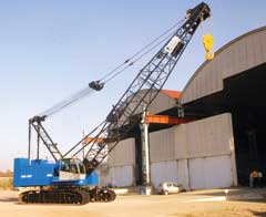 Material handling equipment– Crawler Crane, Rough Terrain Crane