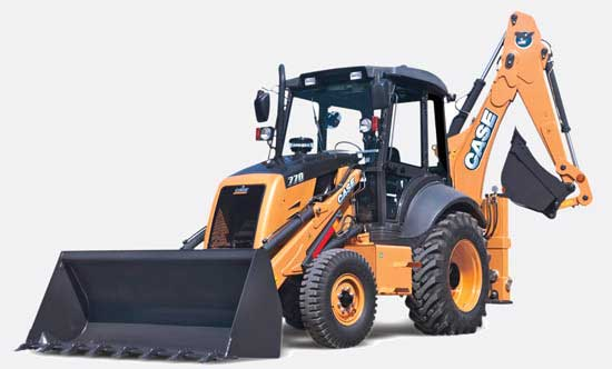 CASE 770 backhoe loader