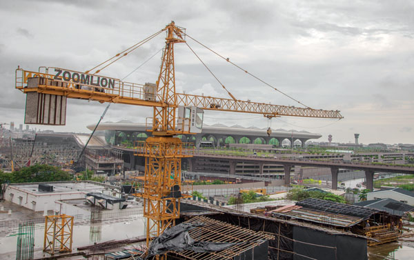 Zoomlion Tower Crane Raheja Intl Airport Mumbai
