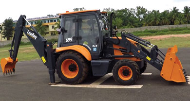 Leeboy Backhoe Loader