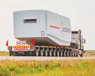 Flatbed Semitrailer for Blades
