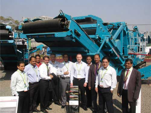 Powerscreen exhibits 1000SR & Metrotrak