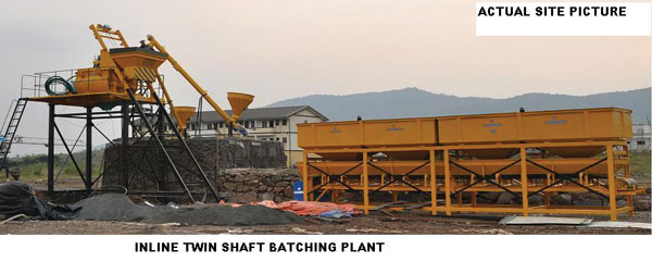 Inline Twin Shaft Batching Plant