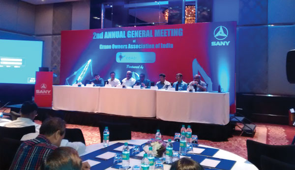 Crane Owners Association of India's second AGM stresses on collective approach by members to resolve issues