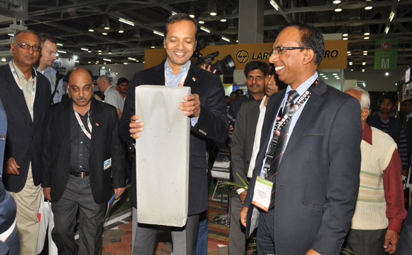 Naveen Jindal with AAC block
