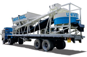 Trailer Mounted Rower Batching Plant