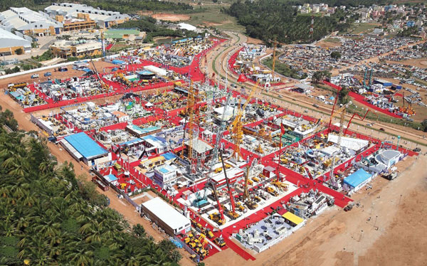Excon 2015 Aeriel view