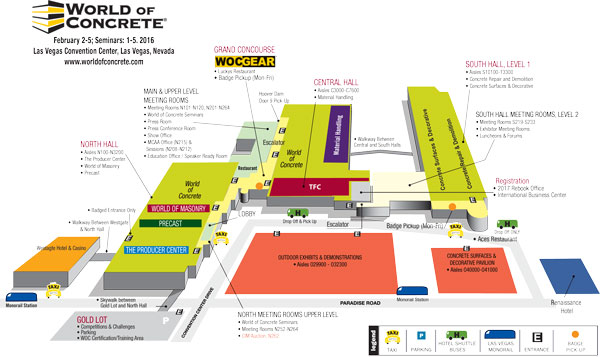 World Of Concrete 2016 Map
