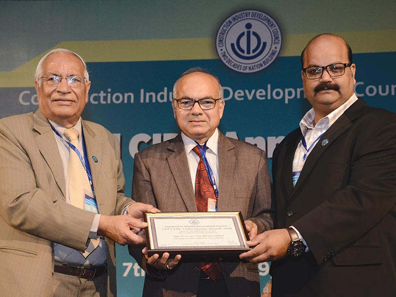 Tata BlueScope Steel honoured with CIDC Vishwakarma Achievement Award Third time in a row