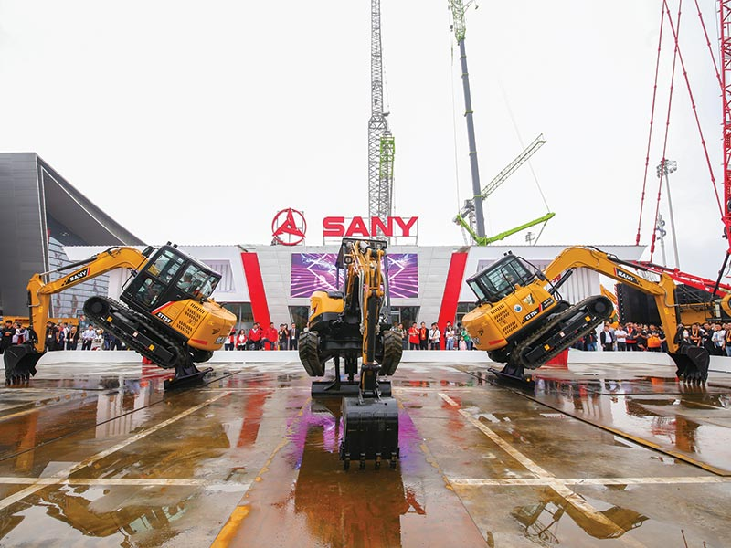 Sany exhibits 68 new products, demonstrates Intelligent Manufacturing