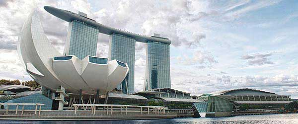 View of ArtScience Museum at Marina Bay Sands