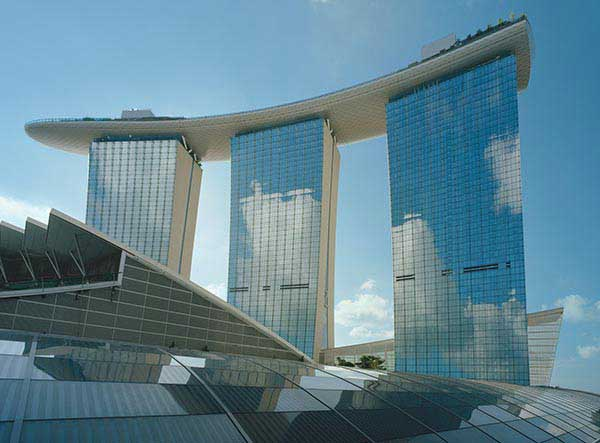 Hotel Towers and SkyPark at Marina Bay Sands