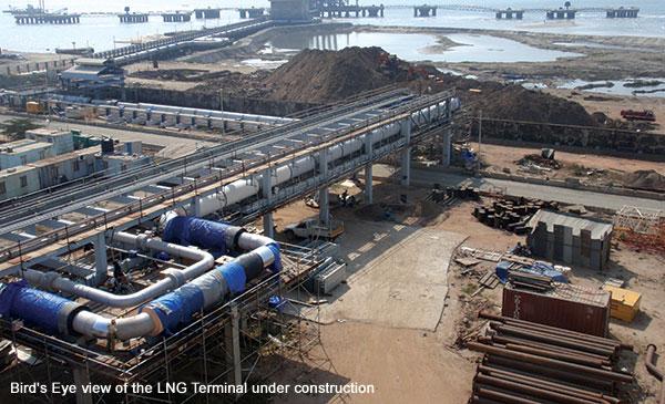 Engineering, planning, construction of Kochi & Dahej LNG Terminal