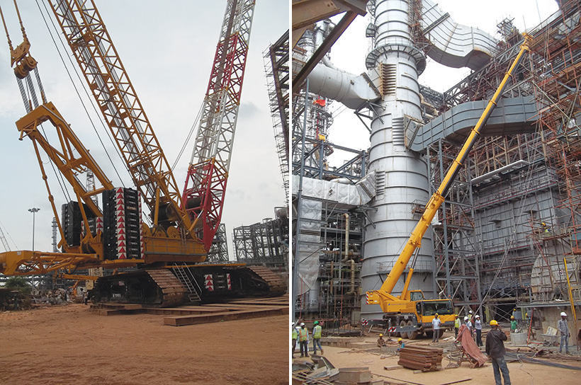 Terex Crawler Crane at Kochi Refinery Project