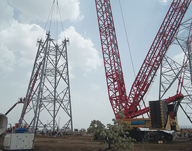 Sany cranes deployed at Suzlon India's wind power project
