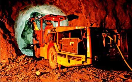Sandvik underground drilling rigs used for the Chutak Hydroelectric Project