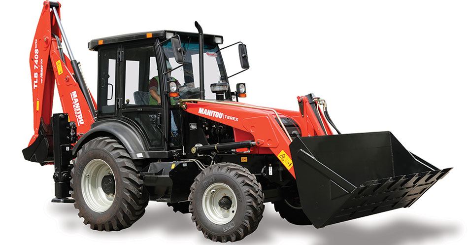 Red Backhoe TLB 740S