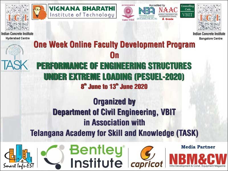 One-week online faculty program on Performance of Engineering Structures Under Extreme Loading from 8th to 13th June 2020