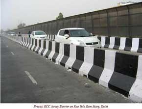 Precast RCC Jersey Barriers