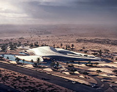 Zaha Hadid's dunes for the desert in UAE's eastern district
