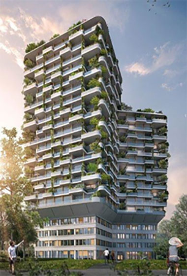 Green residential tower