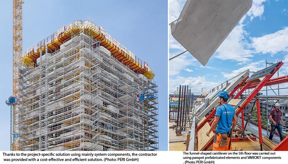 Green residential tower grows with VARIOKIT
