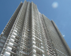 Layher Scaffolding for High-Rise Construction