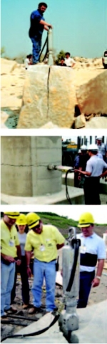 Darda's Hydraulic Rock and Concrete Splitters