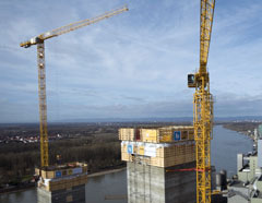 WOLFF 6031.8 Cranes at Mannheim Construction Site