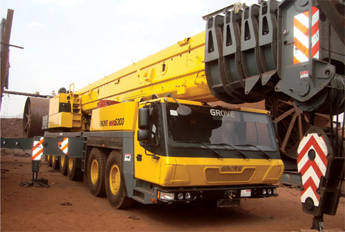 BMM Ispat Acquires Grove All-terrain Crane  for Heavy Lift Work