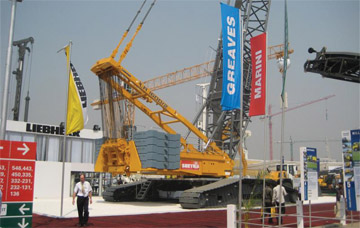 Liebherr Crawler Cranes at Indian Wind Farm Site