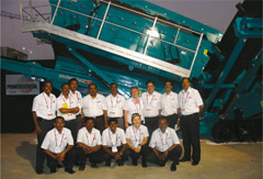 Powerscreen Celebrates 10 Years of Success in India