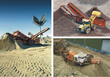Mobile screening and crushing equipment